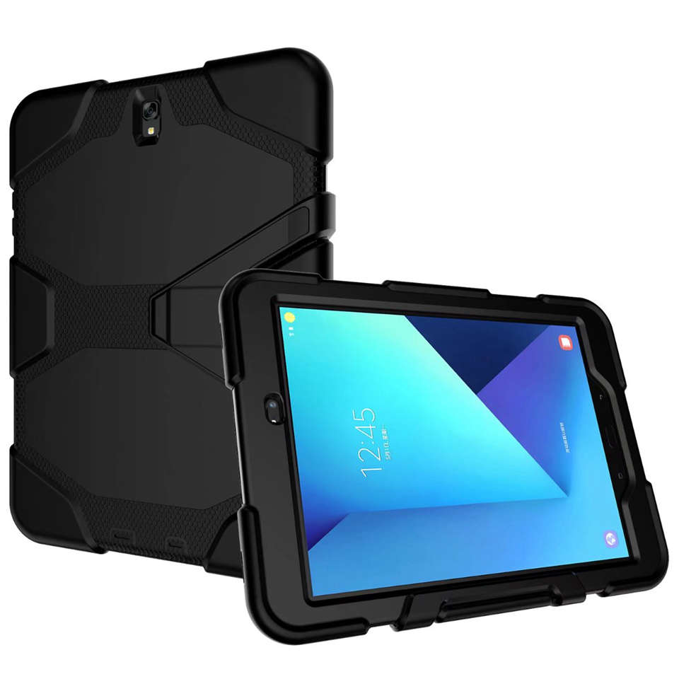 Heavy Duty Armor Hard Hybrid Silicone Safe Cover For Kids For Samsung Galaxy Tab S3 T820 T825 9.7