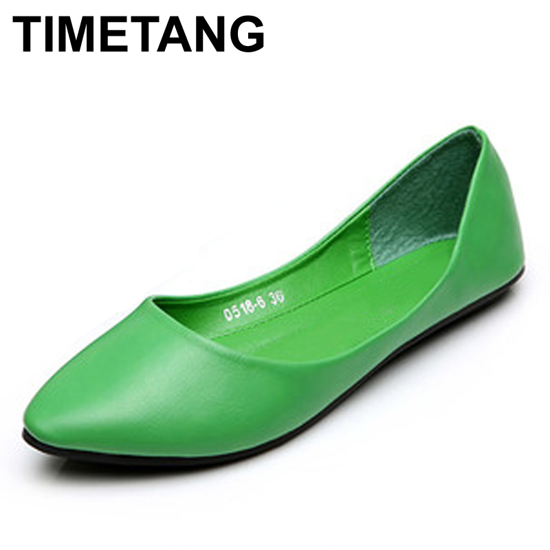 TIMETANG Women Shoes Woman Flats high quality suede Casual Comfortable pointed toe Rubber Women Flat Shoe Hot Sale New Flats fashion women shoes woman flats high quality comfortable pointed toe rubber women sweet flats hot sale shoes size 35 40