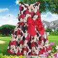 Горячая продажа 2015 новый ребенок девушки дети минни маус платье принцессы повседневная девушки dot ТУТУ платья детская одежда