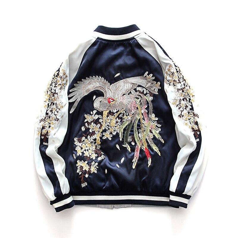 Veste courte manteau printemps femmes coréenne Phoenix broderie veste petit ami mince Baseball uniforme manteaux les deux côtés porter despersuka