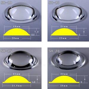 Image 2 - 2 шт., 20 мм, 23 мм, 25 мм, 28 мм, 36 мм, 42 мм, 45 мм, 50 мм, объектив PMMA для Q5 R2, R5, XM L, XM L2, T6, U2, U3 Zoom, светодиодный фонарик для велосипеда