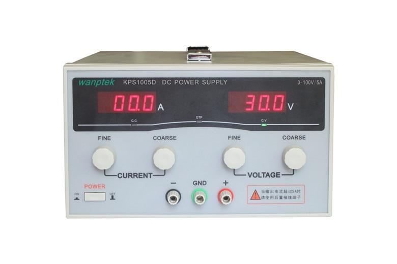 KPS1005D High precision High Power Adjustable LED Dual Display Switching DC power supply 220V EU 100V/5A kps3050d high precision high power adjustable led dual display switching dc power supply 220v eu 30v 50a