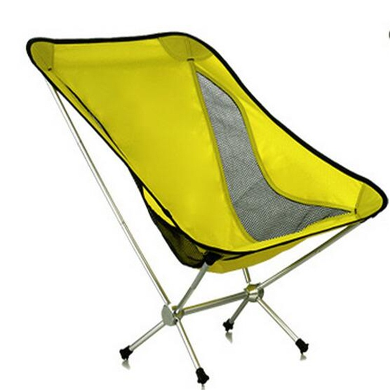 Wholesale  Folding outdoor chair Portable breathable Moon Chair camouflage outdoor comfortable folding fishing chair breathable moon chair leisure chair butterfly chair