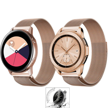 watch case+band for Samsung galaxy watch active 46mm S3 frontier strap milanese loop watchband 20mm 22mm stainless steel belt milanese loop watchband 20mm 22mm for samsung galaxy watch 42mm 46mm r810 r800 magnet band stainless steel strap wrist bracelet