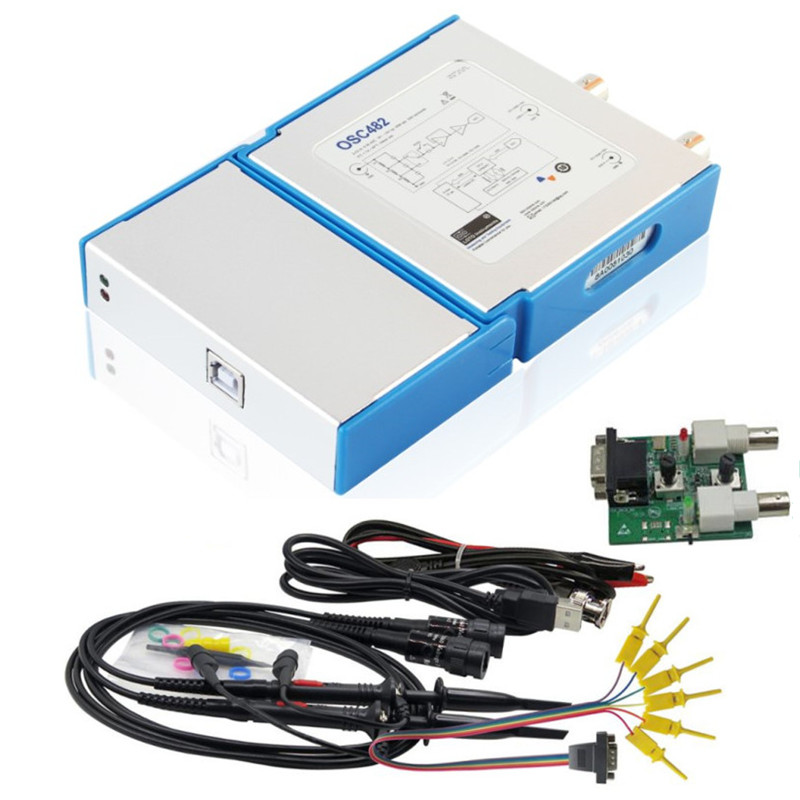 3 em 1 50MSa 2CH 20M Largura de Banda USB Virtual PC Osciloscópio Digital/s + 13 Gerador De Sinal MHz + 4CH Analisador Lógico