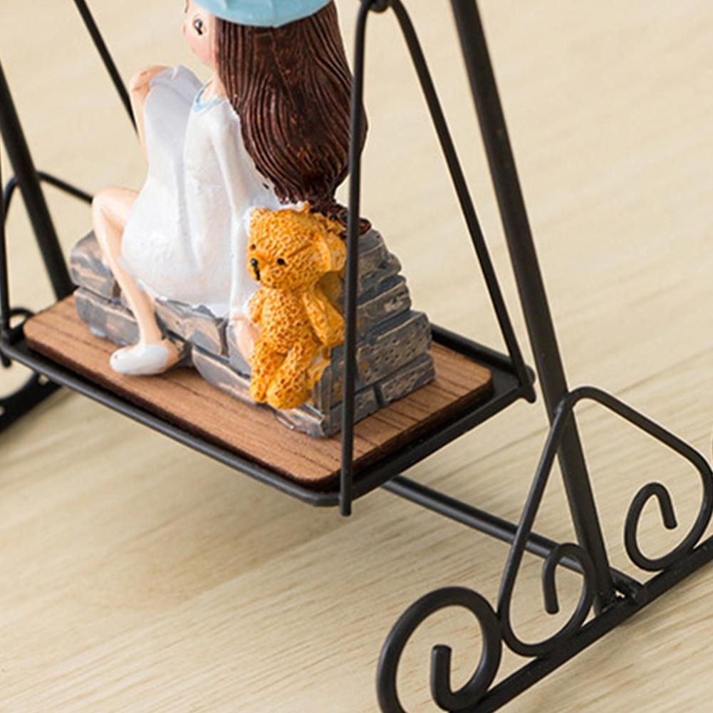 Hot Bedside Little Girl Swing Night Light Ornament for Home Living Room FQ-ing