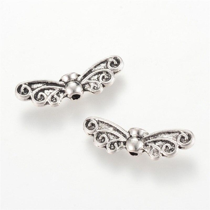 1KG Alloy Metal Wing Beads Antique Silver for Jewelry Making DIY Bracelet Necklace Accessories Finding Lead Free Cadmium Free w Koraliki od Biżuteria i akcesoria na  Grupa 1