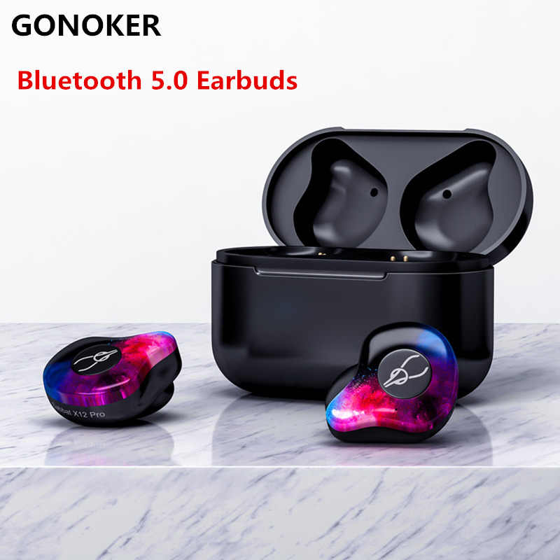 e377417c555 X12 Pro True Wireless Headphone Earbud Bluetooth 5.0 Wireless Sport Headset  with Magnetic Charging Case Built