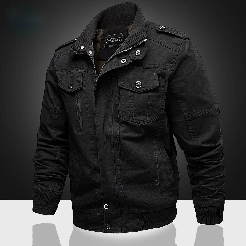 Мужская куртка зимняя Хлопковая мужская куртка пальто армейская мужская куртка-пилот Air Force Осень Повседневная куртка-бомбер windbreake