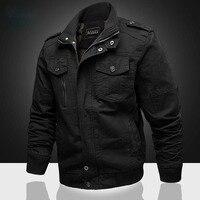 Man jacket Winter Cotton masculine jacket Coat Army Men's Pilot Jacket Air Force Autumn Casual Cargo bomber jacket windbreake