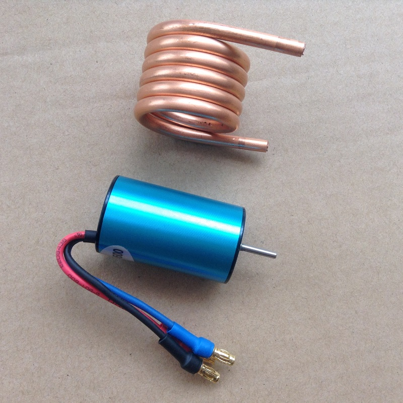 1Set 2440 Brushless Motor High Speed 4500KV 4 Poles Violent Motor with Cooling Copper Tube for 1/16 1/10 RC HSP 94182 94183 aircy 2440 1