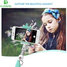 Floveme Цвет ful self селфи для iPhone 7 6 Plus матовая Карамельный цвет проводной монопод само палку для Samsung Huawei Xiaomi