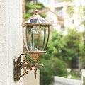 Солнечные светильники наружный настенный светильник Ретро вилла прочный алюминиевый водонепроницаемый солнечный светильник Авто Вкл/Вык...