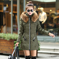 2015 Brand Women winter jacket women down jacket winter coat female slim warm long parka coat plus size fur hood