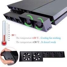 PS4 USB Охлаждающий вентилятор кулер внешний турбо контроль температуры кулер для Sony Playstation 4