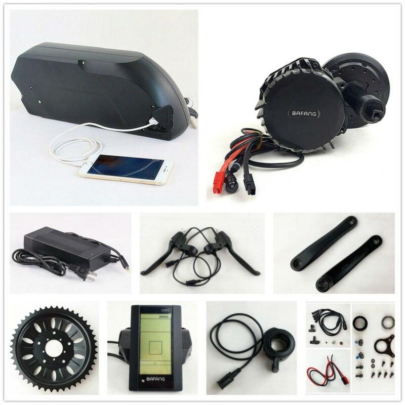 Bafang BBSHD 48 V 1000 W moteur eBike BBS03 8fun kit de conversion de vélo électrique à entraînement moyen avec batterie de cadre e-bike 48 V 14.5AH