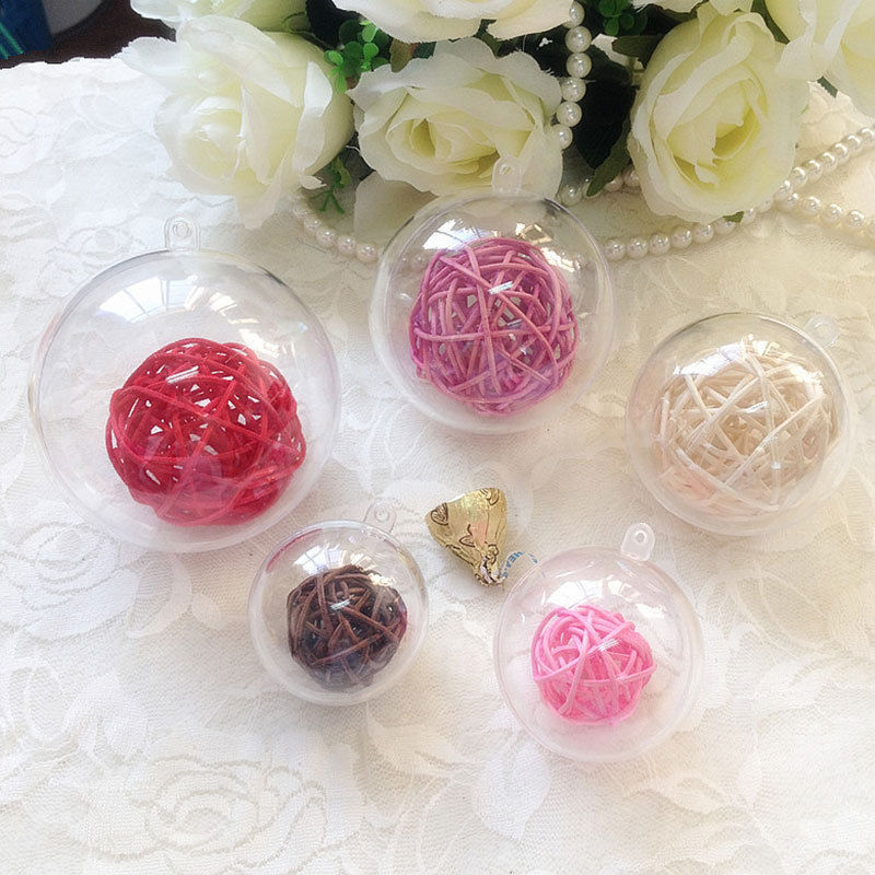 20Pcs 3-8cm Acrylic Transparent Clear Ball for Wedding Candy Box Home Decoration