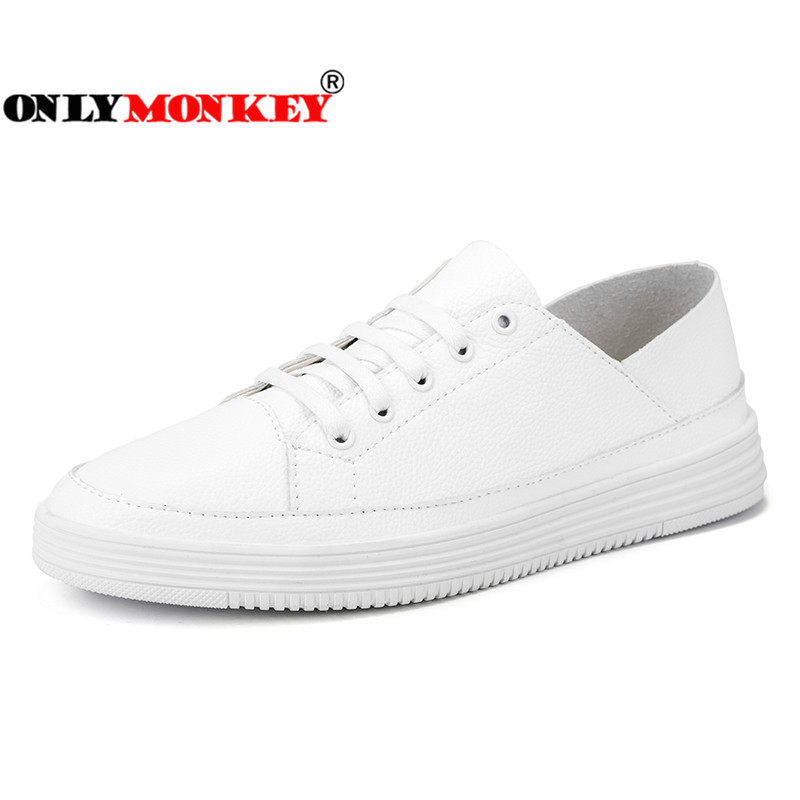 Durable Flat Casual Shoes Men 39-44 Comfortable Lace-up Sneakers Men Breathable Footwear Men Non-Leather Casual Shoes