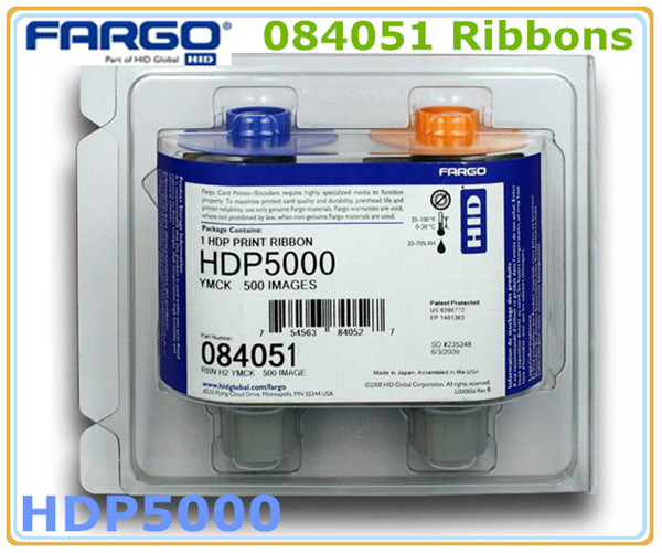 Fargo HDP5000 card printer ribbon 084051 YMCK Color Ribbon-in ...