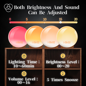 Image 5 - Светильник с часами TITIROBA, цифровые часы, будильник, ночник, естественный, красочный свет восхода, звуки природы, FM радио