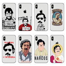 Clear Soft Silicone Coque Capa Pablo Escobar Phone Cases For Apple iPhone X Cover for iPhone 5S 5 SE 6 6S Plus 7 7 Plus 8 8 Plus cellular line fine чехол для apple iphone 7 plus 8 plus clear
