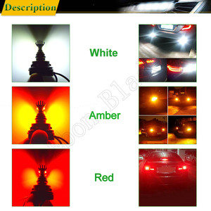 Image 5 - 1 X T20 7440 W21W WY21W 7443 W21/5 W XBD Chip 30W LED Front Tail Richtingaanwijzer brake Reverse Drl Lamp Wit Amber ROOD 12v 24v