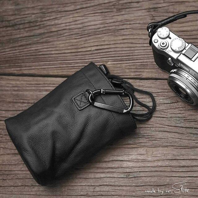 Yeni Mr. Taş el yapımı hakiki deri kamera çantası çanta siyah renk