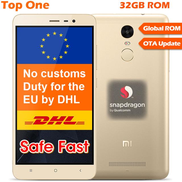 Оригинал Xiaomi Redmi Note 3 Pro Prime Snapdragon 650 Гекса Основные 5.5 ''GB RAM 32 ГБ ROM 4000 мАч google play MIUI 7 Отпечатков Пальцев ID