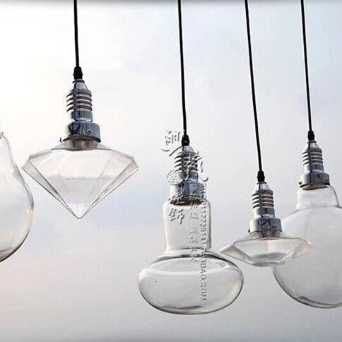 American style creative crystal glass lamp diamond pendant light cafe restaurant bar counter glass pendant light FG985