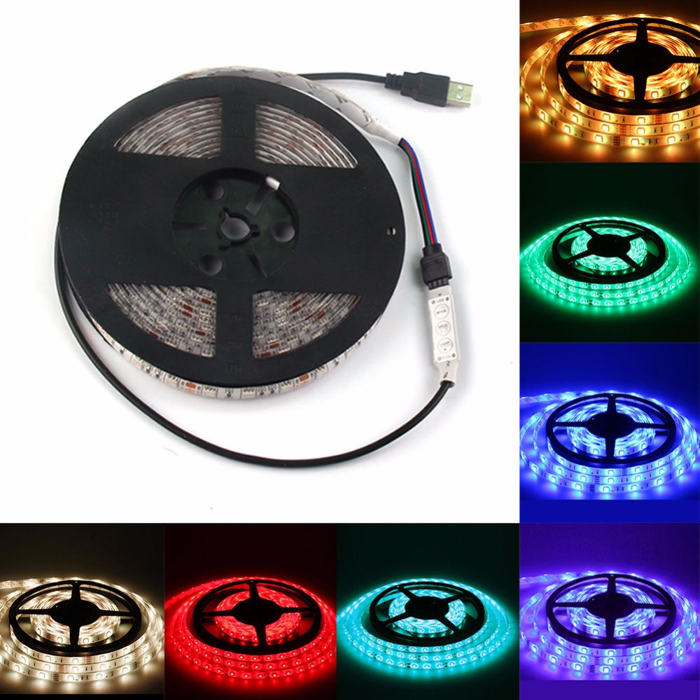 5M 16.4ft 12v SMD RGB 5050 IP68 Waterproof 300 LED Flexible Tape Strip Light