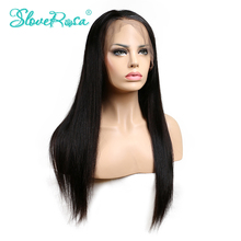 Slove Rosa Straight Wig Lace Front Human Hair Wigs Brazilian Remy Hair Natural Hairline With Baby Hair For Black Women Free Ship