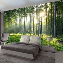 Green Forest Nature Landscape 3D wall mural