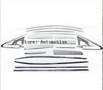 Marco de ventana completo de puerta cromado de acero inoxidable 22 Uds + embellecedor tipo moldura para alféizar de ventana para Hyundai IX35 2010-2015