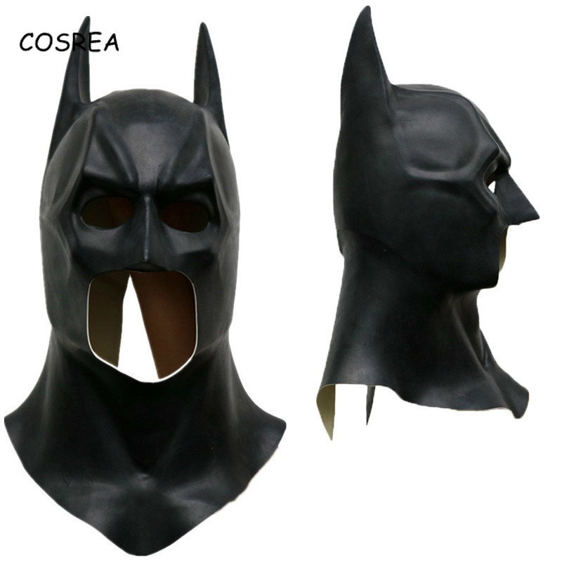 Batman Cosplay Costume Mask Helmet Bruce Way Superhero Funny Mask Latex Full Face Apex Ears Adult Masks Prop Halloween Party Men