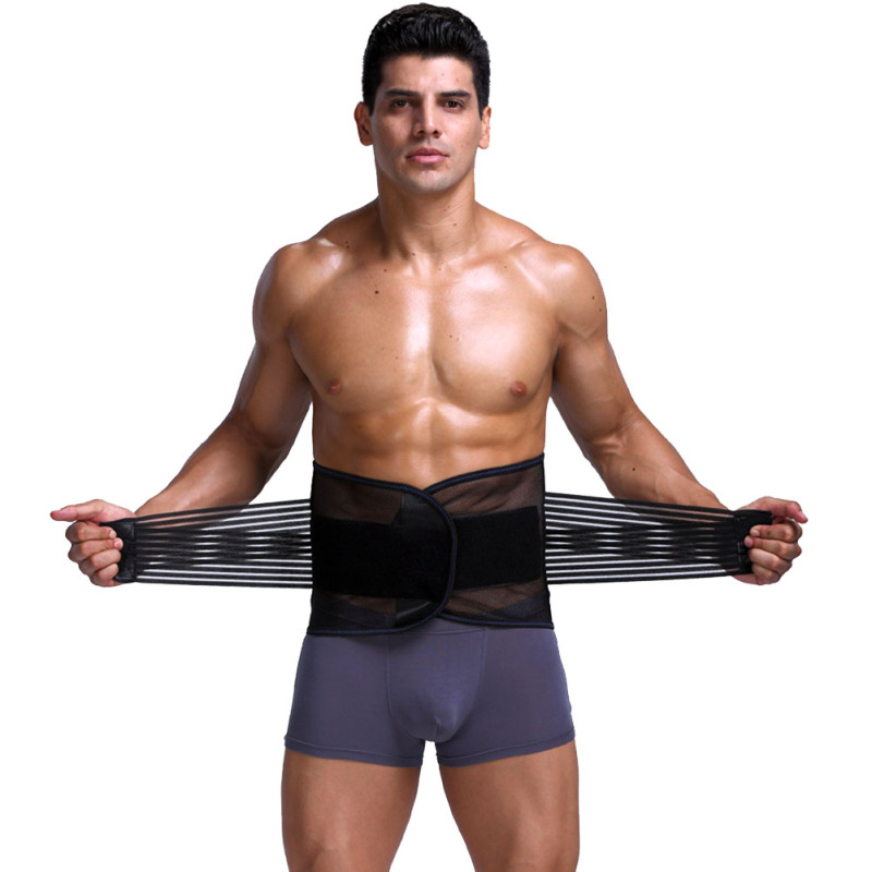 Adjustable Men Abdomen Waist Trimmer Exercise Sweat Belt Fat Burner Slimming Hot Body Shaper Waist Trainer Corsets for Men Z3 1