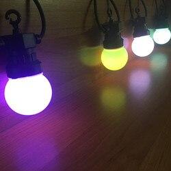 VNL IP65 RGB Глобус G50 молочная лампа струна Подключаемая наружная гирлянда для свадьбы рождественской вечеринки красочная гирлянда