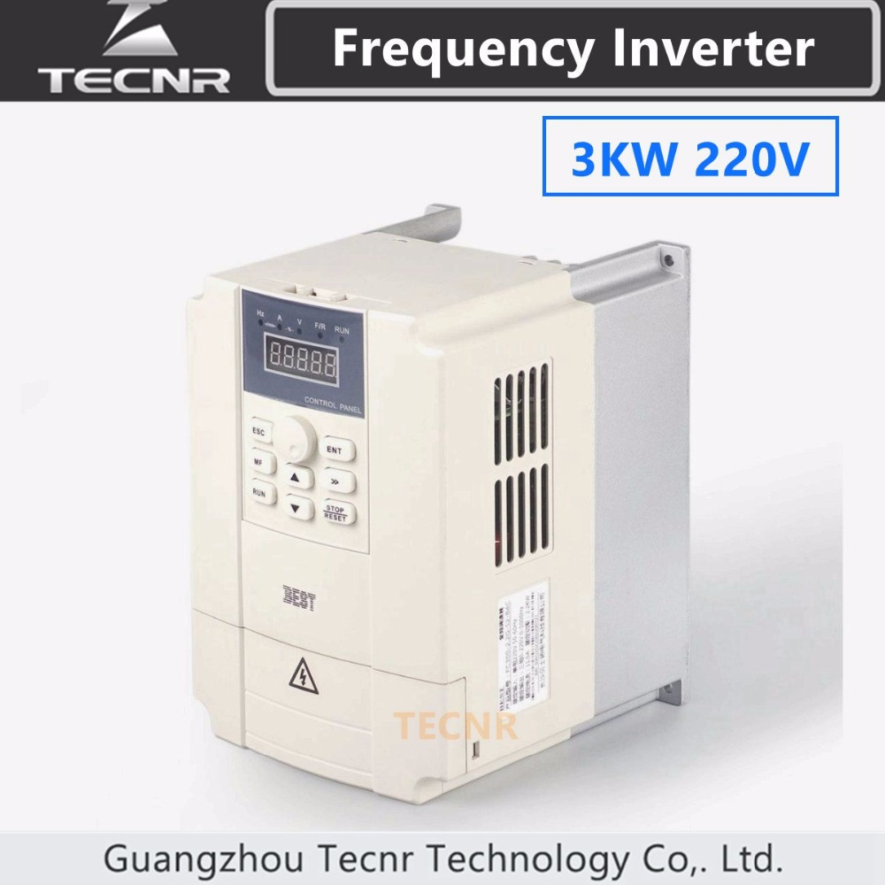 3KW variable frequency inverter driver 220V input 1PH output 3PH for cnc spindle motor