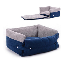 New Arrival Multifunction Dog Bed Renovate Pet Kennel 2 Color Size M L Soft Teddy Bear Dog House For Small and large Dog Mat