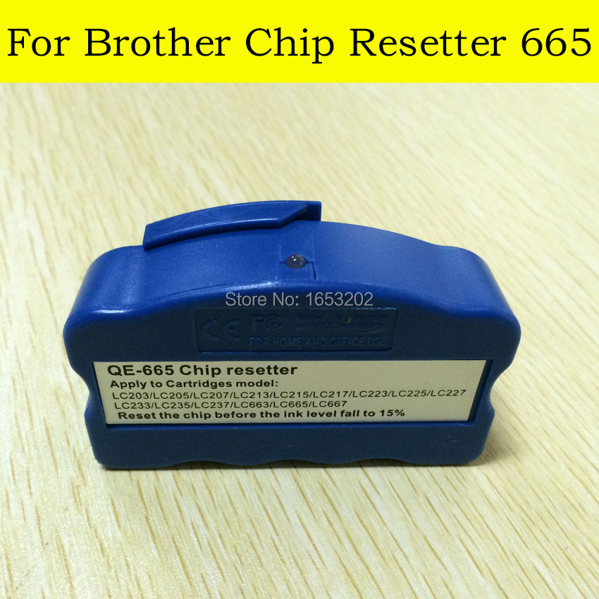 Wholesale 1PC Chip Resetter For Brother LC223/LC225/LC227/LC229 Use For MFC-J4120/4420/4620/4620/5320 Printer new replacement part for samsung galaxy s advance gt i9070 i9070 lcd screen and touch digitizer with frame 1pc lot free shipping