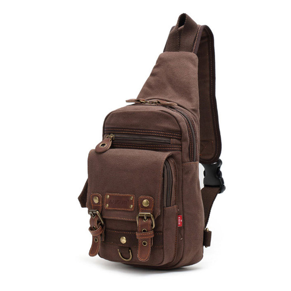 ФОТО 2016 Autumn New Vintage Men Belt Canvas Shoulder Bags Practical Men Messenger Chest Bag Pack
