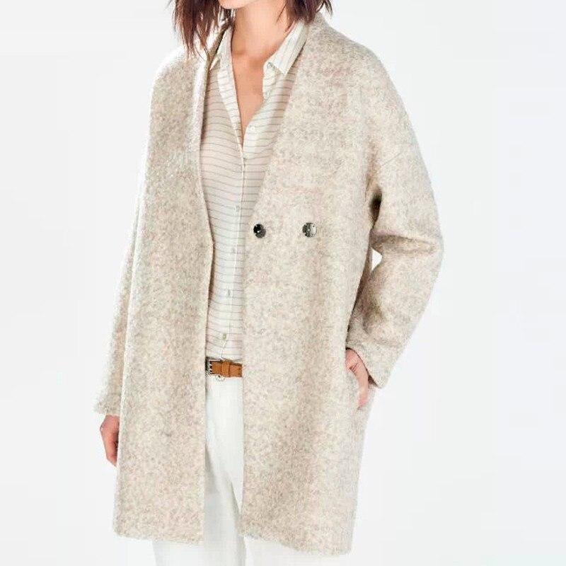 Women   Basic     Jacket   Woollen overcoat 9a102