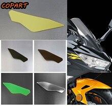 Motorcycle Front Headlight Screen Cover Protector Acrylic Lens Sticker Shield for Kawasaki Ninja 400 2015-2018