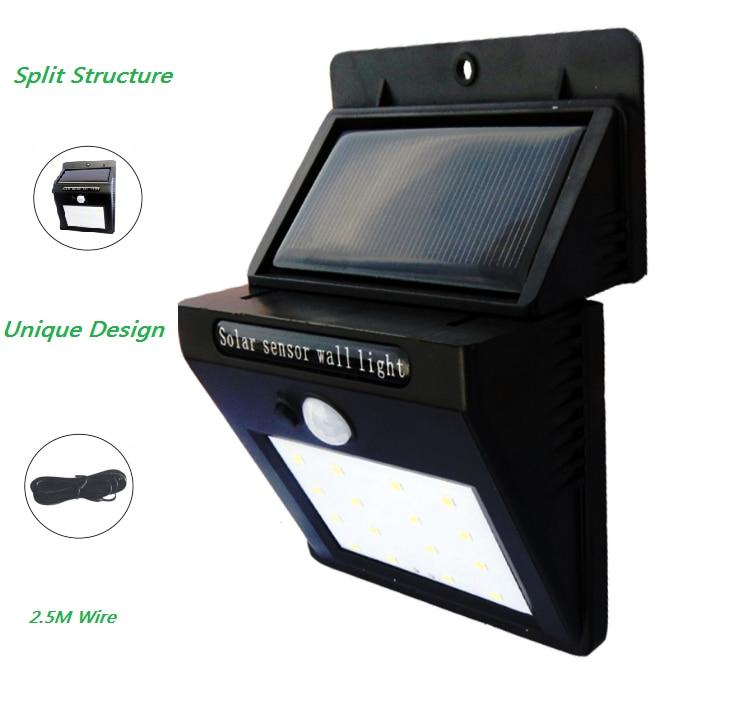 Lâmpadas Solares de movimento ativado luz separável Características : Solar Motion Sensor Lamps