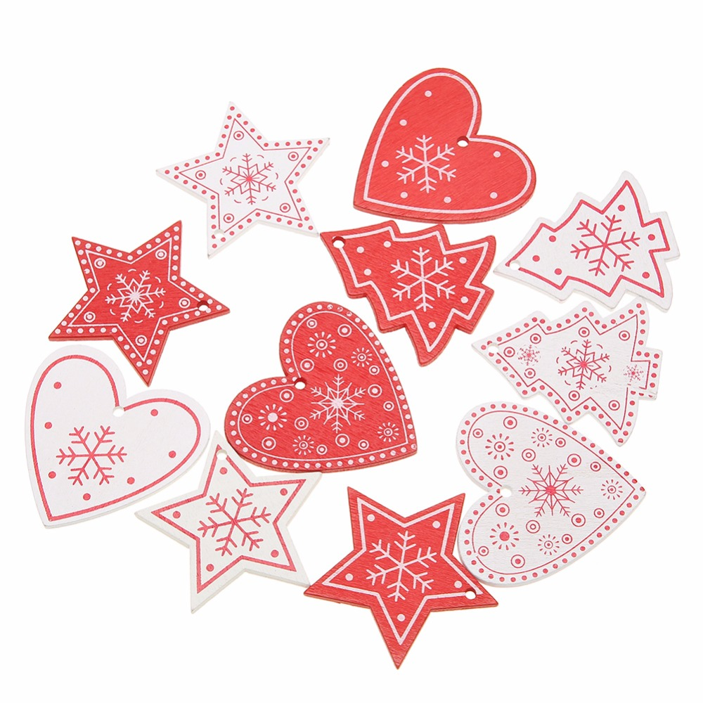 10PCS DIY Tree/Heart/Star Wooden Pendants Ornaments For Christmas Party Xmas Tree Ornaments Kids Gifts Decorations White Red-in Pendant & Drop Ornaments from Home & Garden on Aliexpress.com | Alibaba Group