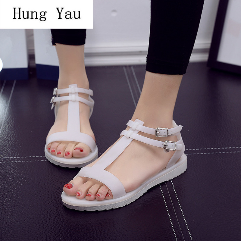 Women Sandals Jelly Flip Flops 2018 New Summer Fashion Rome Wedges Shoes Woman Slides Beautiful Lady Casual Shoes Buckle FemaleWomen Sandals Jelly Flip Flops 2018 New Summer Fashion Rome Wedges Shoes Woman Slides Beautiful Lady Casual Shoes Buckle Female