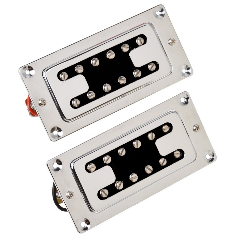 new 1pair chrome humbucker pickups neck bridge pickup for electric guitar in guitar parts. Black Bedroom Furniture Sets. Home Design Ideas