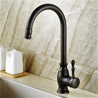 The dark bronze antique copper faucet leading classical faucet basin leading kitchen faucet can rotate