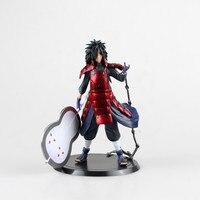 Naruto Uchiha Madara Figurines 17CM Japan Anime Bandai Pvc Action Figure Red Manga Juguetes Kids Hot Birthday Toys for Children