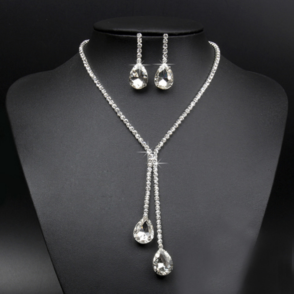 Купить новое женское ожерелье серьги с покрытием набор украшений для