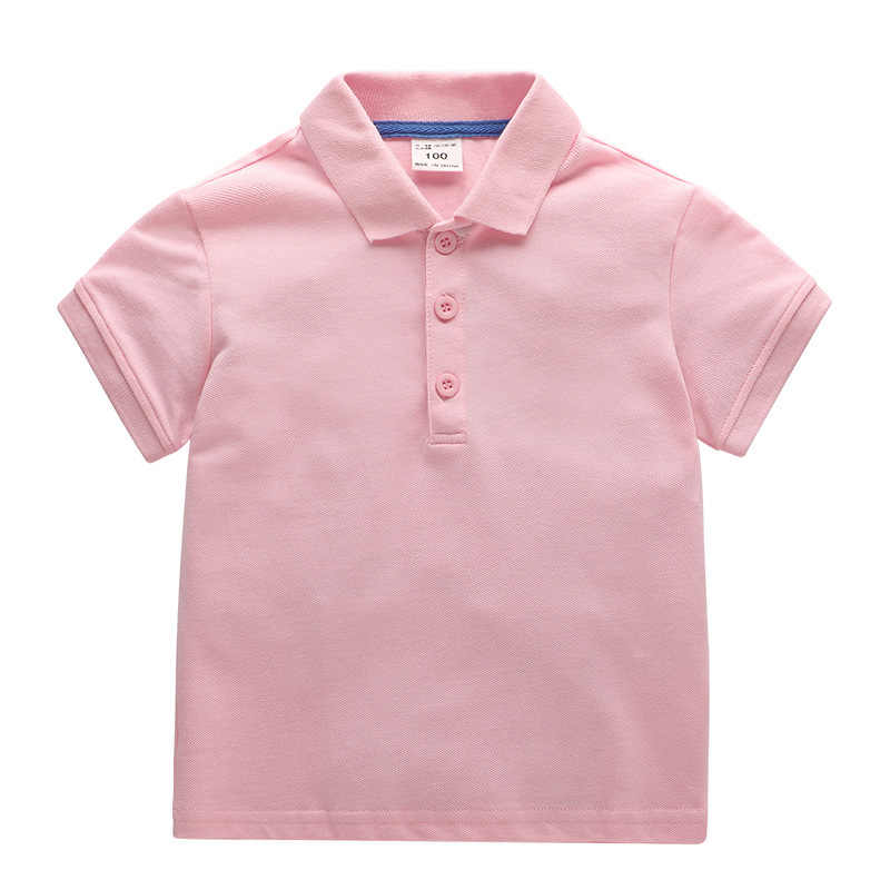 2018 summer new baby boys polo shirt children's lapel solid short sleeve tops cotton shirt for kids